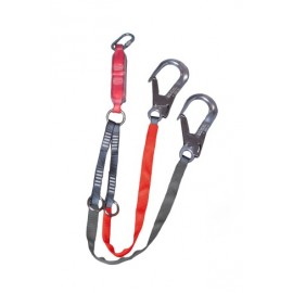 Tie back lanyard (Double) with 2 x 60mm hooks.