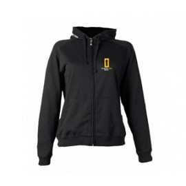 LADIES HOODY SWEATSHIRT WITH ZIP
